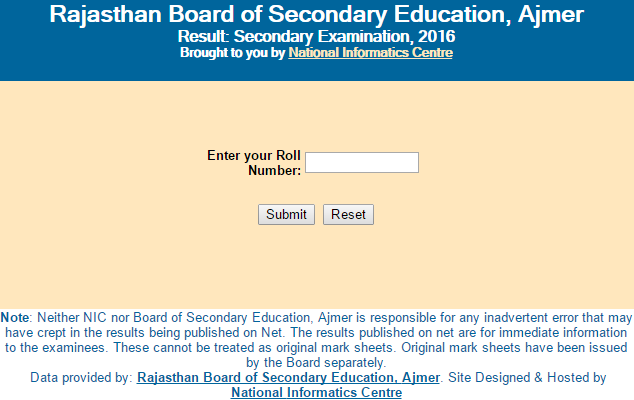 Check Rajasthan Board RBSE Class 10th Result 2016 Declared at www.rajresults.nic.in - Engineers ...