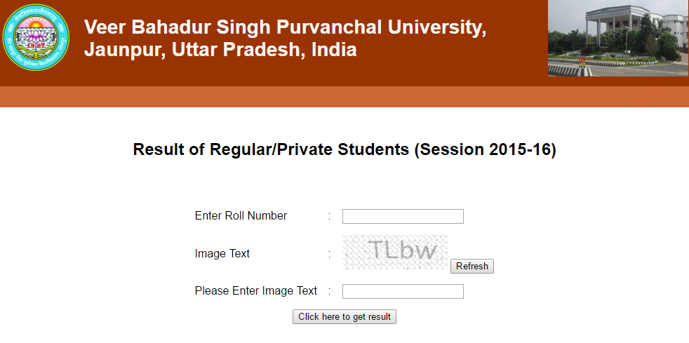 check vbspu 1st  2nd  3rd year ug  pg result 2016 declared