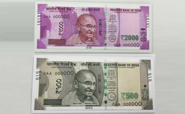 pictures of all new rs 500 and rs 2000 currency notes