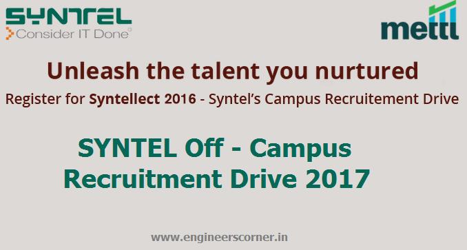 Syntellect 2016 Software Di Reclutamento Campus